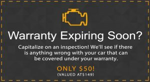 auto warranty inspection coupon